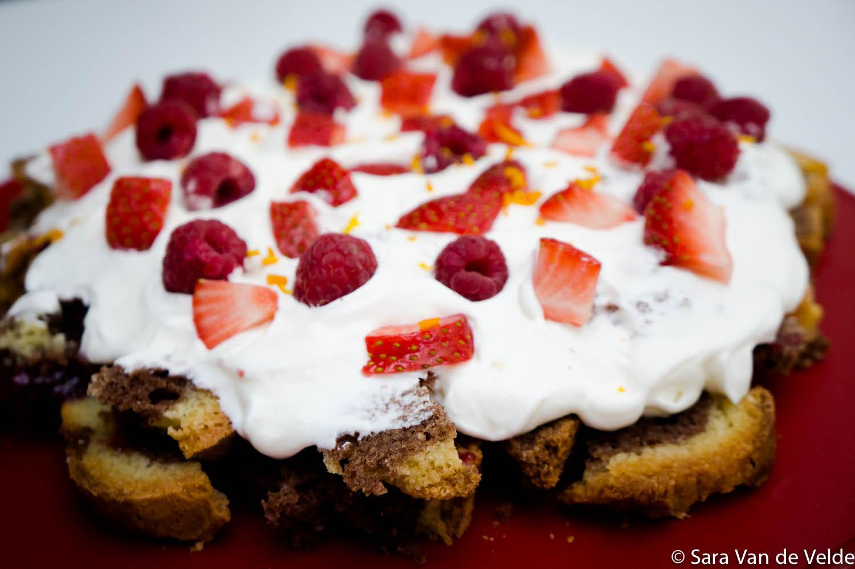 Trifle van rode vruchten